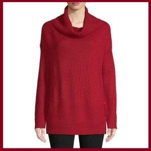 Woman's Cowl Neck Long Sleeve Pullover Sweater